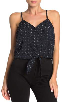 J.o.a. Sleeveless Tie Front Top