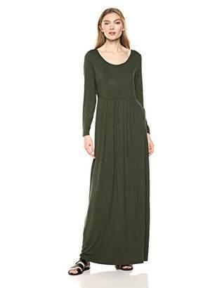 Amazon Brand - Daily Ritual Women's Jersey Long-Sleeve Empire-Waist Maxi Dress