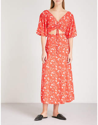 Free People Danni Jane crepe top and skirt co-ord