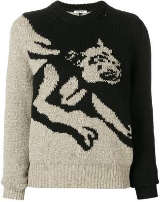 Krizia leopard pattern sweater