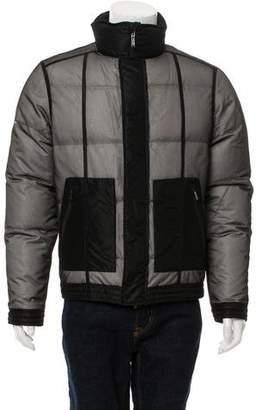 Calvin Klein Collection Mesh Front Down Jacket