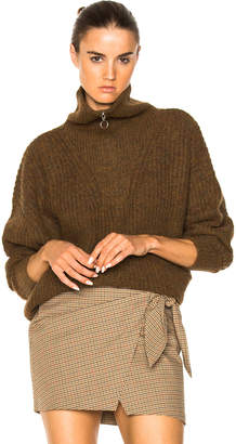 Etoile Isabel Marant Declan Grunge Knit Turtleneck Sweater
