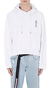 Off-White Off - White c/o Virgil Abloh Men's Pill-Graphic Cotton Fleece Crop Hoodie - White