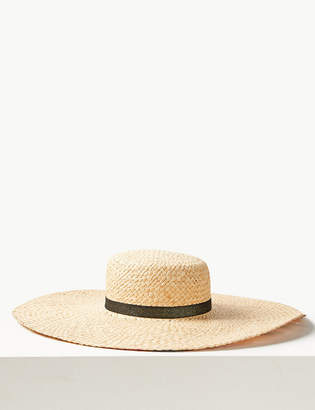 Marks and Spencer Printed Brim Flat Top Sun Hat