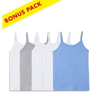 Fruit of the Loom Assorted Wear Two Ways Spin Camis, 5+1 Bonus Pack (Little Girls & Big Girls)