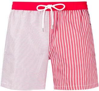 Eleventy contrast stripe swim shorts