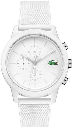 Lacoste Men's 12.12 Chronograph Watch with White Silicone Strap