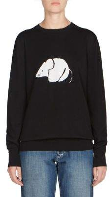 Loewe Mouse Graphic Wool Crew Sweater