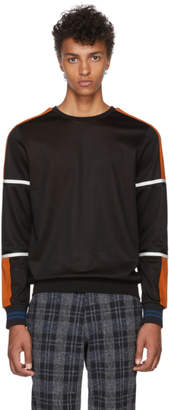 Paul Smith Black and Orange Technical Sweatshirt