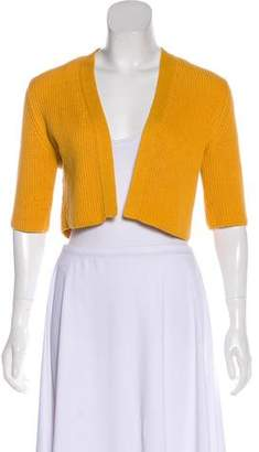 Akris Punto Rib-Knit Short-Sleeve Shrug