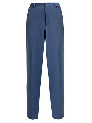 Raey Brushed Twill Trousers - Womens - Blue