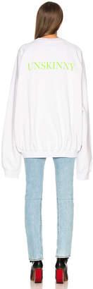 Vetements Unskinny Crewneck Sweatshirt