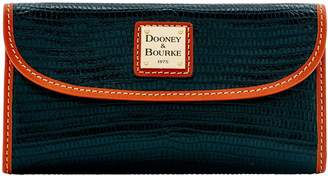 Dooney & Bourke Embossed Lizard Continental Clutch