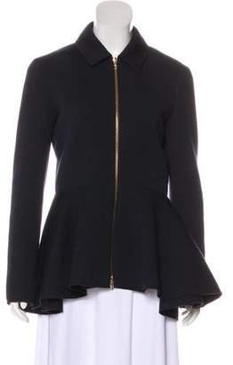 Lanvin Zip-Up Peplum Jacket