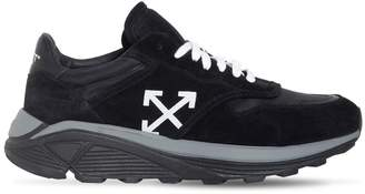 Off-White Black Cotton & Suede Jogger Sneakers