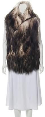 Ann Demeulemeester Shearling Long Vest w/ Tags
