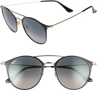 fb7b25dbbd6f Ray-Ban Highstreet 52mm Round Brow Bar Sunglasses