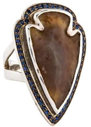 Pamela Love Jasper & Sapphire Arrowhead Ring
