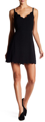Lucca Couture V-Neck Scallop Tank Dress $61 thestylecure.com