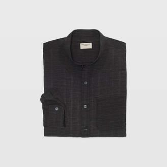 Club Monaco Slim Band-Collar Texture Shirt