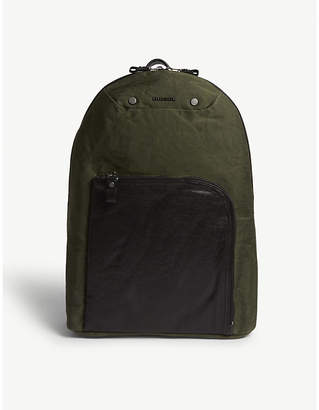 Diesel L4-mix leather panel backpack