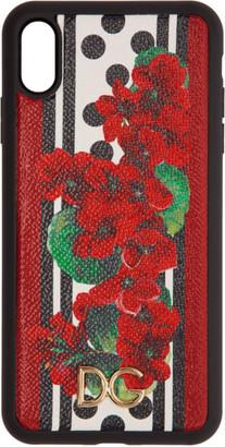 Dolce & Gabbana Red and Black Portofino-Print iPhone XS Max Case