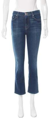 Mother Cropped Mid-Rise Jeans