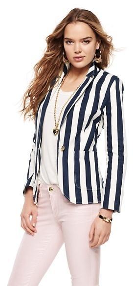 Juicy Couture Awning Stripe Blazer