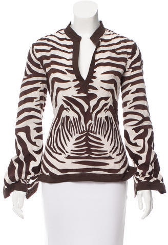 Tory BurchTory Burch Embroidered Zebra Top