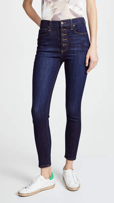 Alice + Olivia AO.LA by High Rise Exposed Button Jeans