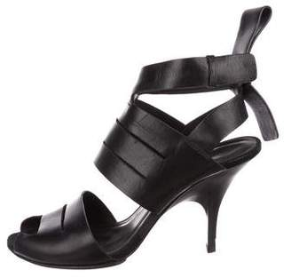 Alexander Wang Leather Ankle-Strap Sandals