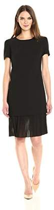Anne Klein Women's Crepe Popover with Pleated Chiffon Skirt