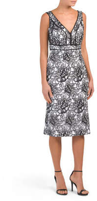 V-neck Sequin Novelty Dress