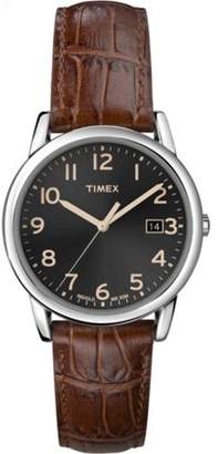 Timex Men's South Street Watch, Brown Croco Pattern Leather Strap