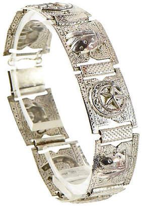 One Kings Lane Vintage Sterling Silver Good Luck Bracelet