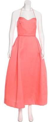 Rosie Assoulin Silk Halter Dress