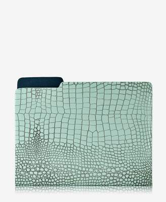 GiGi New York Carlo File Folder Crocodile Embossed Leather