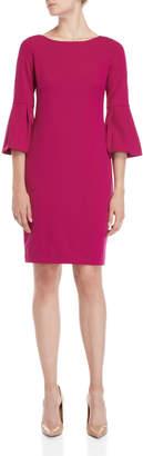 Eliza J Pleated Sleeve Sheath Dress