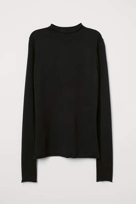 H&M Fine-knit Merino Wool Sweater - Black