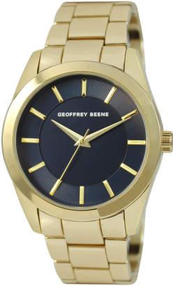 Geoffrey Beene GB8147GD Gold-Tone & Navy Watch