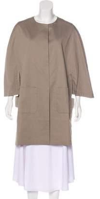 Fabiana Filippi Embellished Knee-Length Coat w/ Tags