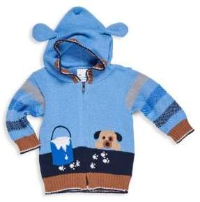 Florence Eiseman Baby Boy's Puppy Zip-Front Sweater