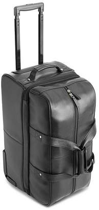 ROYCE New York Leather Rolling Duffel Bag Luggage