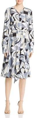 Lafayette 148 New York Paris Geo Print Shirt Dress