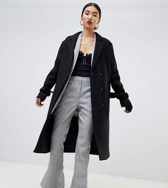 NA-KD Na Kd tie sleeve tailored coat in black