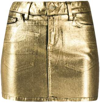 Liu Jo coated denim mini skirt