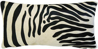 One Kings Lane Vintage Zebra Stripe Cowhide/Linen Pillow