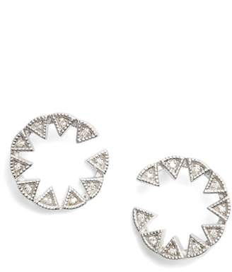 Dana Rebecca Designs Emily Sarah Triangle Diamond Stud Earrings