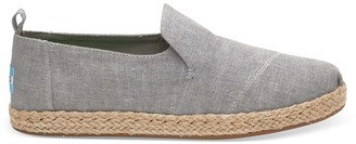 Drizzle Grey Slub Chambray Womens Deconstructed Alpargatas