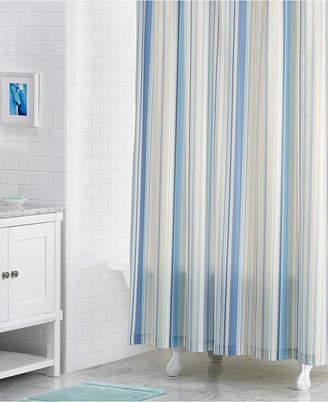 """Martha Stewart Collection Rainshower 72"""" x 72"""" Variegated-Stripe Shower Curtain"""